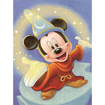 Minnie 5D DIY Diamond Embroidery Crystal Rhinestone Cross Stitch Mosaic Paintings Arts Craft for Home Wall Decor 12X16Inch Full Drill Diamond Painting Cartoon Mickey Mouse by Number Kits 1