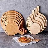 DaoRier Tablett Servierplatten Platte Tray als Tabletttisch Sofatisch Frühstücktabletts Anrichtplatte Holz Brown B1 35 * 45cm 14inch 1 PCS für Gebäck Essen Tapasschalen