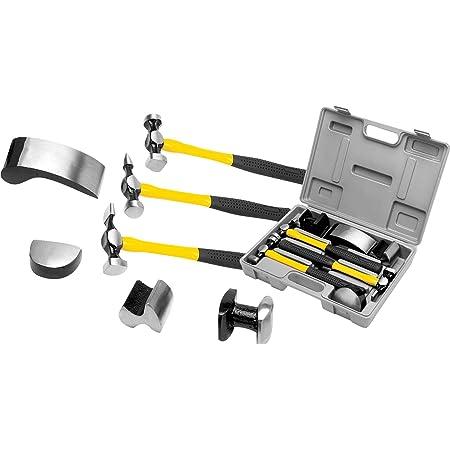 National Standard 7pc Fiberglass Auto Body Repair Tools Fender Tool Kit Hammer Dolly Dent Bender