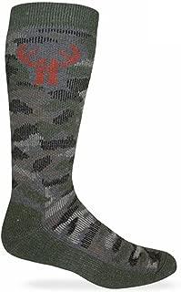Huntworth 2 Pack Men's Camo Wool Blend Boot Sock