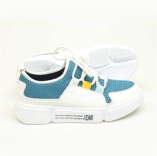 2019/Bağcık Detaylı Beyaz-Mavi Sneakers