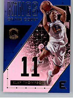 2017-18 Panini Essentials Kings of the Court Basketball Card #18 Klay Thompson Golden State Warriors Official NBA Trading Card
