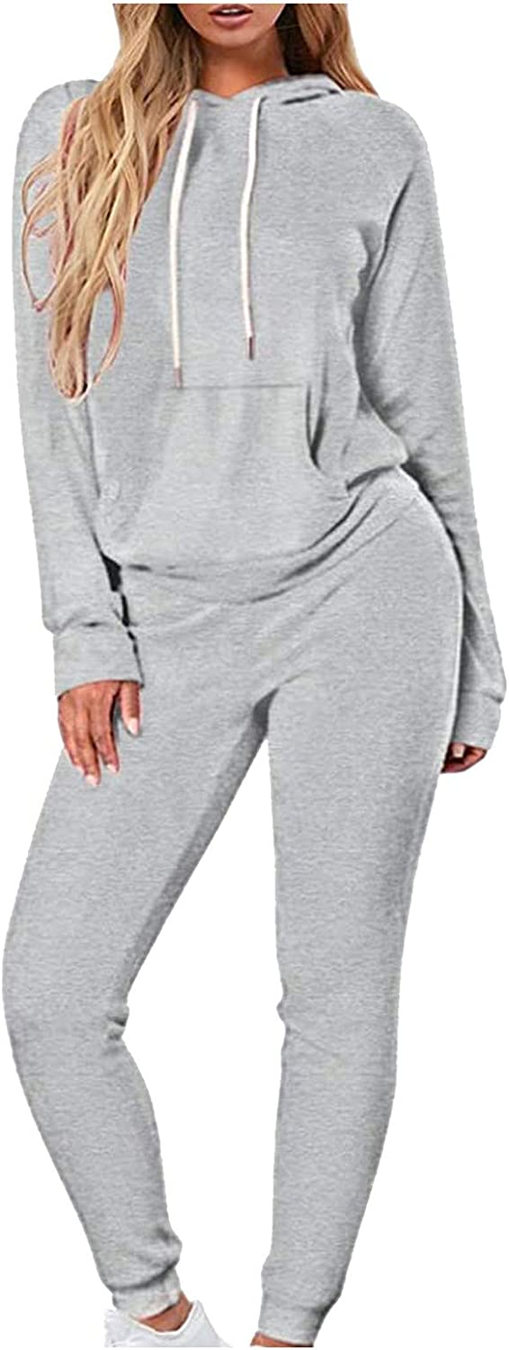 Women 2 Piece Outfits Casual Hoodie Sweatsuit Pullover Max 45% OFF Sweatpant Quantity limited