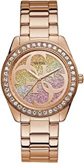 6f00335e0 Guess g twist Womens Analog Japanese quartz Watch with Stainless Steel Gold  Plated bracelet W1201L3