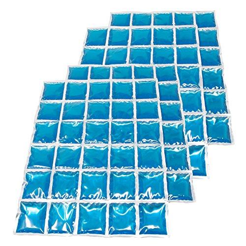 ToCi Kühlmatte, Großes Kühlkissen 30 Kühlzellen, Flexibles Eispack 38 x 25 cm, Kühlkompresse Kühlakkus, 2 Stück