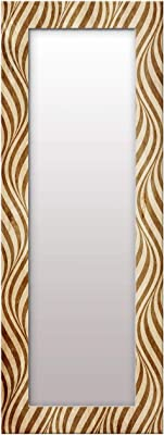 999Store Lines Printed Wall Mirror(Mirror_18X48 Inch_Golden ) MirrorBMP406