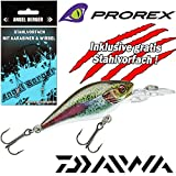 Angel-Berger Daiwa Prorex Baby Crank MR Wobbler alle Modelle Stahlvorfach (Live Rainbow Trout, 4cm)