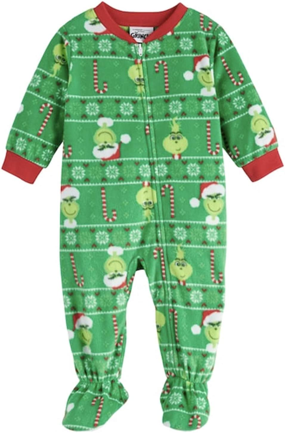 Kohl's How The Grinch Stole Christmas Grinch Microfleece Blanket Sleeper - 24 Month - Jammies for Your Families Green (Boy/Girl)