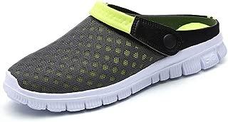 QISHENG Men's Women's Garden Clog Shoes Fashion Mesh Sandals Lightweight Quick Drying Walking Slippers