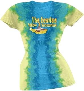 Liquid Blue Beatles - Yellow Submarine Tie Dye Juniors Babydoll T-Shirt