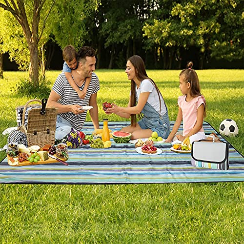 BLAZOR Picknickdecke, 150 x 200cm Strandmatte Picknickdecke Wasserdicht, Stranddecke Sandfrei, Faltbar Campingdecke für Outdoor, Camping, Park, Garten