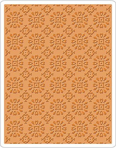 Sizzix Texture Fades Prägeschablone - Rosettenmuster von Tim Holtz, Plastik, Mehrfarbig, 17.5 x 12.4 x 0.5 cm