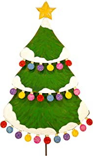 The Round Top Collection - Large Pom-Pom Christmas Tree - Metal
