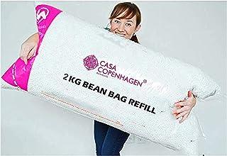 Casa Copenhagen 2 Kg Bean Bag Refill/Filler - Sunny White (2 kg Beans - 1400 Grams net Weight as per Indian Standards)