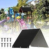 zhgzhzwlf Toldo De Repuesto para Sombrilla Parasol De Jardín Al Aire Libre Fácil Instalación Toldo De Repuesto Malla De Protección Solar para El Reemplazo De La Cubierta del Toldo del Paraguas,Negro