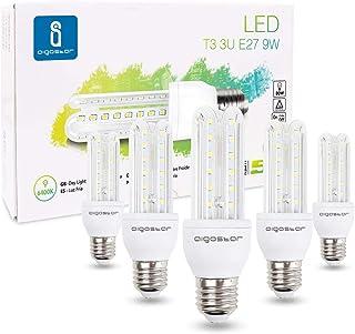 Led Leuchtmittel E27 9W ersetzt 60W Kaltweiß Glühlampen Birne 6400K 810 Lumen Groß Abstrahlwinkel 360°Mais Glühbirnen T3 3...