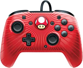 PDP Nintendo Switch Blue Camo Faceoff Wired Pro Controller Mario Red
