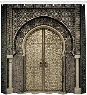 ABAKUHAUS Marocain Tenda Da Doccia, Motif Géométrique Porte Ancienne Entrée  De Porte Style Architectural Oriental