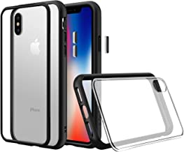 RhinoShield Modular Case for iPhone X [Mod NX] | Customizable Shock Absorbent Heavy Duty Protective Cover - Compatible w/Wireless Charging & Lenses - Shockproof Black Bumper w/Clear Back