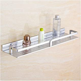 Antirouille Tablettes d'angle Salle de bain avec plateau de douche Caddies rail en aluminium, montage mural Organisateur S...