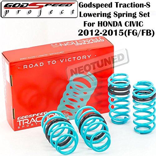 Godspeed (LS-TS-HA-0009) Traction-S Lowering Spring Set For Honda Civic 2012-2015 gsp set kit