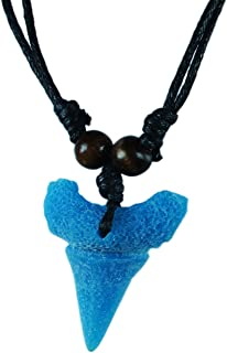 exoticdream Shark Tooth Resin Surfer Necklace Beach Surfer Jewelry Adjustable