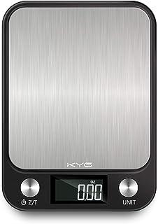 KYG Smart Digital Balance Cuisine en acier inoxydable, 10kg/1gr, Balance de Précision Cuisine con Tactile Sensible Écran L...