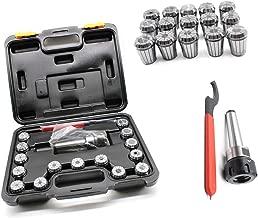 HYYKJ MT3 ER32 M12 Spring Collet Chuck Holder Spanner Set Taper Shank with Box for CNC Engraving Machine Milling Lathe Tool Holder