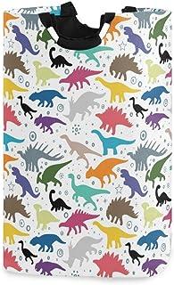 QMIN Panier à linge pliable coloré motif dinosaure animal panier à linge grand sac de rangement poubelle avec poignée orga...