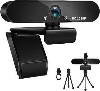 Fityou PC Webcam PC Full HD 1080P con Micrófono, Cámara Web USB 2.0 para Videollamadas, Estudio, Conferencia, Grabación, Diseño Plegable y Giratorio de 360 °, Micrófono con Cancelación de Ruido