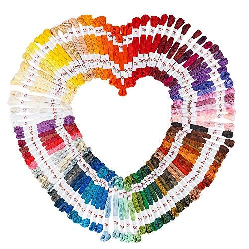 Borduurgaren, 100 stuks, 100% katoen, elk 8 m, 6 draden, 100 verschillende kleuren, ideaal voor borduurwerk, naaien…