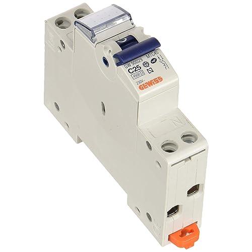 INTERRUTTORE MAGNETOTERMICO 1P+N CURVA C 25A 4500A 4.5kA 1 MOD GEWISS GW90029