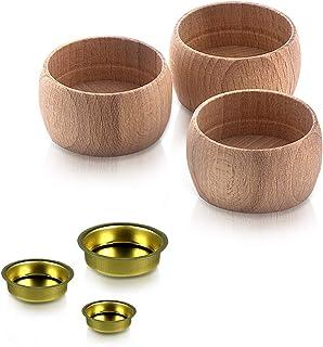 Adventsdekoration Teelichthalter 50 x 27 mm aus Holz