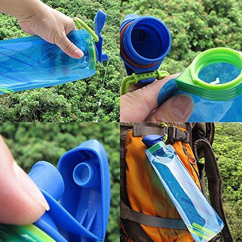 YoMaris Unisex Adult 700ML Faltbare Set von 3 mit CE, ROHS Zertifikate, Zusammenklappbare Flexible Wiederverwendbare Wasserflasche zum Wandern, Abenteuer, Reisen - 3