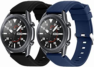 Suoman for Samsung Galaxy Watch 3 45mm/ Galaxy Watch 46mm Band, 22mm Soft Silicone Sport Replacement Strap Band for Samsun...