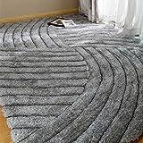 ZHongWei - Teppich Teppich Stretch Seidenteppich Decke verschlüsselt Couchtisch Wohnzimmer Schlafzimmer Nacht Mode (Color : Gray, Size : 120cm*170cm)