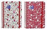 Oxford Floral - Agenda escolar, día página con espiral y tapa plástico