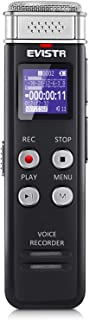 EVISTR 16GB Digital Voice Recorder Voice Activated Recorder with Playback - Upgraded Small Tape Recorder for Lectures, Mee...