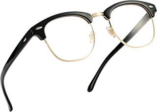 Pro Acme Retro Semi Rimless Clear Lens Glasses Classic Vintage Unisex Eyeglasses