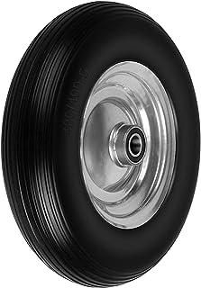Forever Speed massief rubberen band kruiwagenband PU stalen velg? 390 mm / 4,00-8 25 mm rubberen wiel zwart