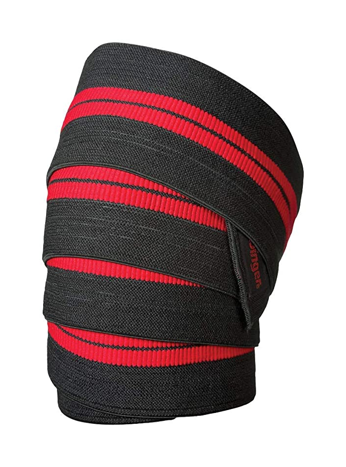 Harbinger Red Line 78-Inch Knee Wraps for Weightlifting (Pair)
