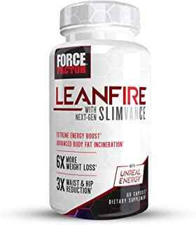 Force Factor LeanFire with Next-Gen SLIMVANCE Advanced Thermogenic Fat Burner for Weight Loss with B Vitamins and Capsimax...
