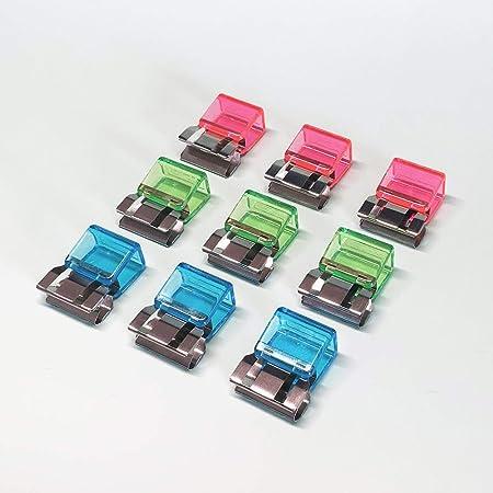 A negozi WELLXUNK/® Clip di carta,35 Pezzi Clip del Raccoglitore,Clip Multiuso in Metallo,Clip Bulldog,per etichette Borse ufficio e cucina domestica
