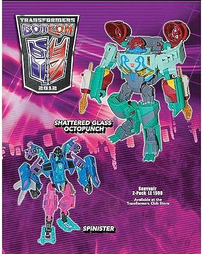 octopunch und Spinister Shatterot Glass botcon exklusiven Action Figuren