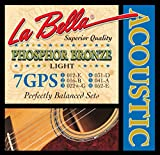 LaBella 7GPS Phosphor Bronze Acoustic Guitar Strings, Light