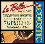 LaBella 7GPS Phosphor Bronze Acoustic Guitar Strings, Light