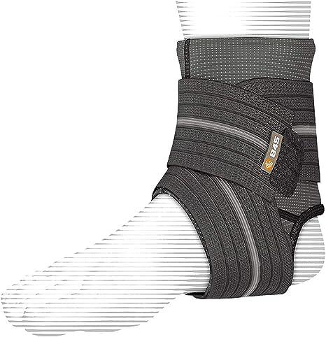 TALLA Medium. Shock Doctor Chevillère de Compression Avec Support par Strap - Protecciones de pie para Artes Marciales