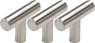 Gobrico Single T bar 50mm/2in Drawer Pull Handle Knob For Furniture Dresser Cupboard Hardware Satin Nickle - 30Pack