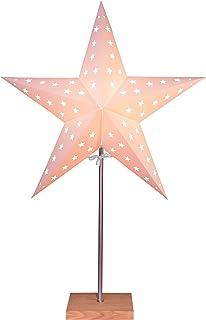StarTec - Lámpara de pie de mesa (papel, 43 cm), diseño de estrella