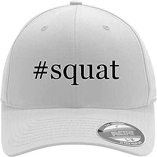 #squat - Adult Men's Hashtag Flexfit Baseball Hat Cap